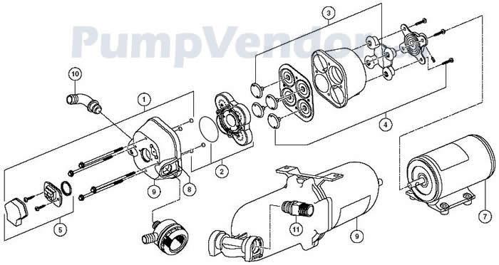Jabsco 31670-0092 Parts List