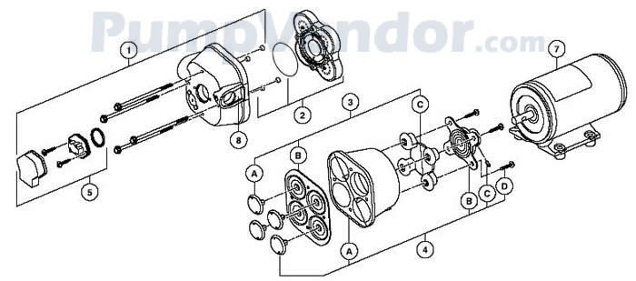 Jabsco 31705-0092 Parts List