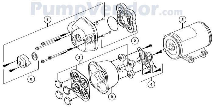 Jabsco 31801-0092 Parts List