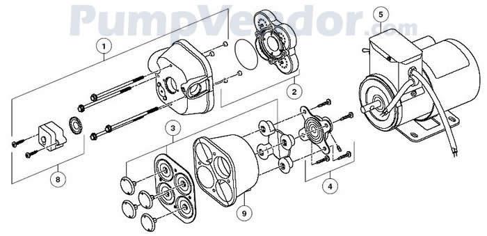 Jabsco 31801-1305 Parts List