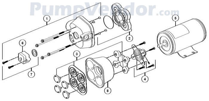 Jabsco 31820-0492 Parts List