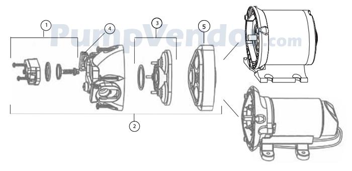 Jabsco 32305-0092 Parts List