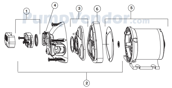 Jabsco 32605-0092 Parts List
