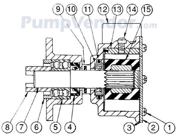 Jabsco 3270-200 Parts List