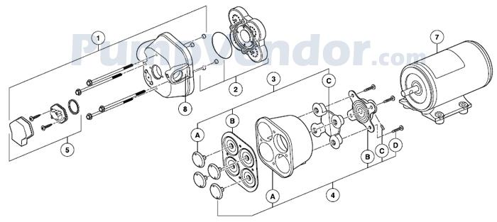 Jabsco 32700-0092 Parts List