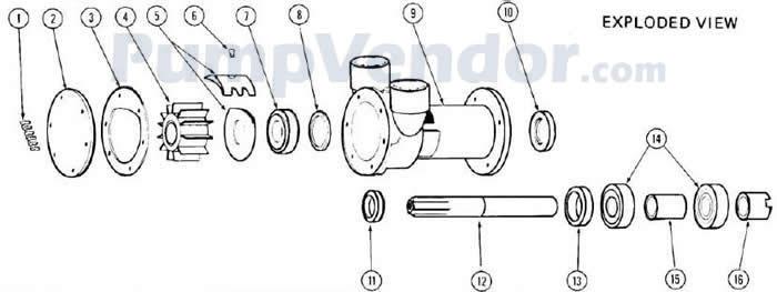 Jabsco 3380-0001 Parts List