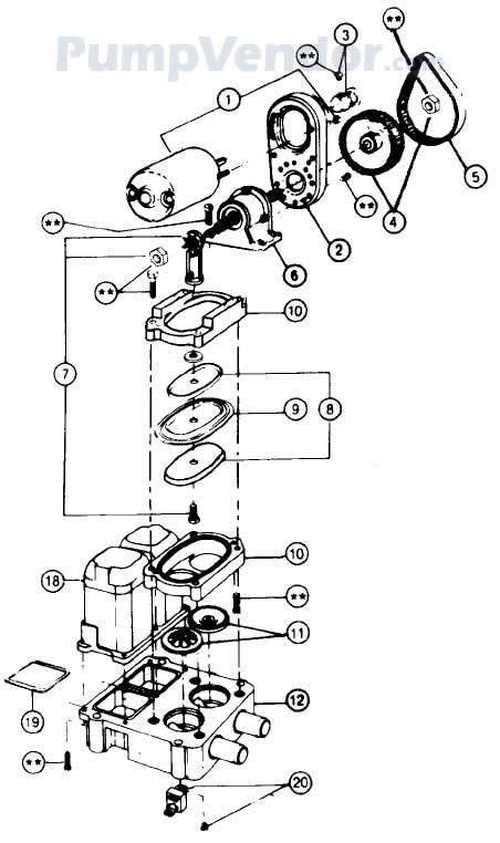 Jabsco 34600-0000 Parts List