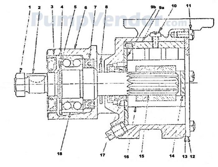 Jabsco 3570 3570-0001 Parts List