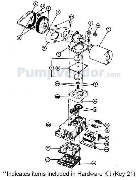 Jabsco 36600-0000 Parts List