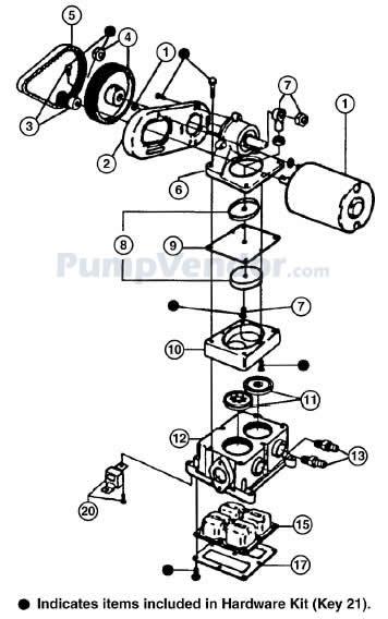 Jabsco 36680-2000 Parts List