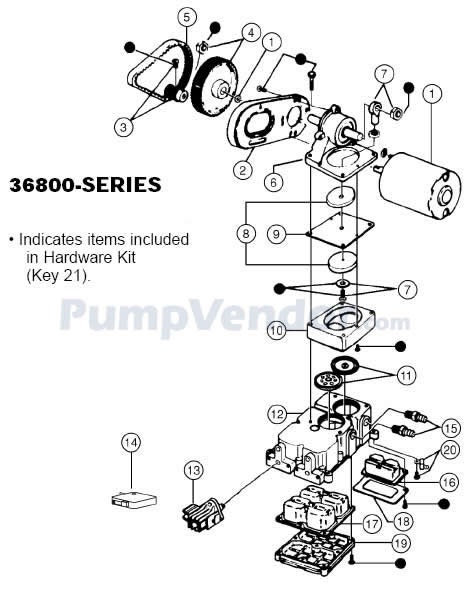 Jabsco 36800-1010 Parts List