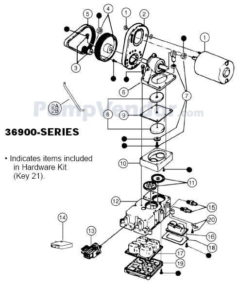 Jabsco 36900-1020 Parts List