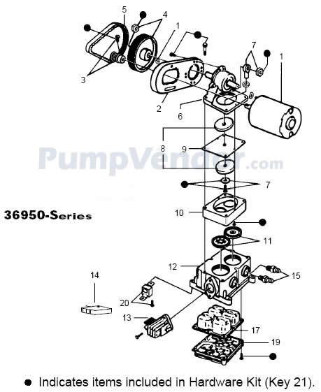 Jabsco 36950-2010 Parts List