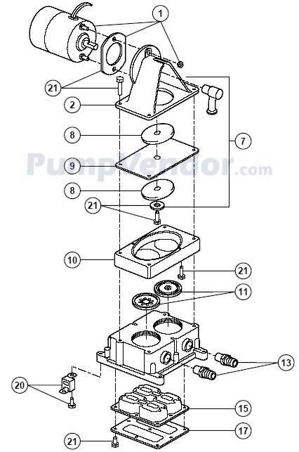 Jabsco 36960-2000 Parts List