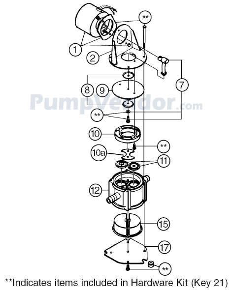 Jabsco 37202-0000 Parts List