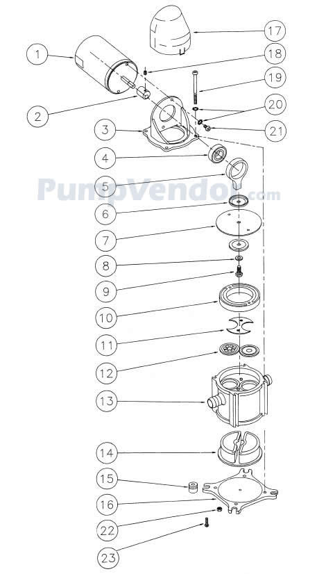 Jabsco 37202-2012 Parts List