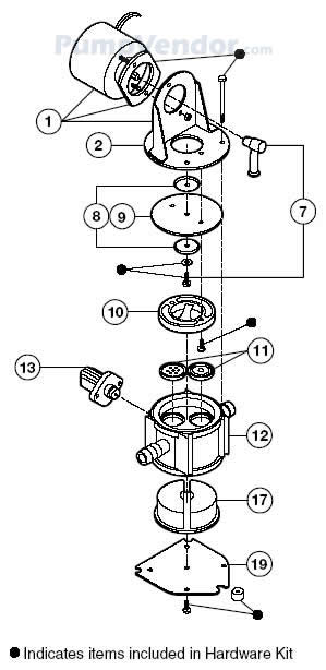 Jabsco 37215-1000 Parts List