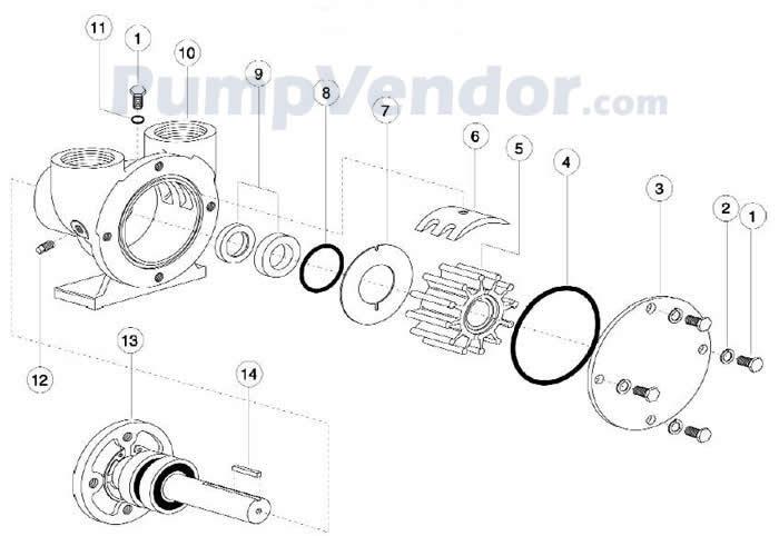 Jabsco 42730-0000 Parts List