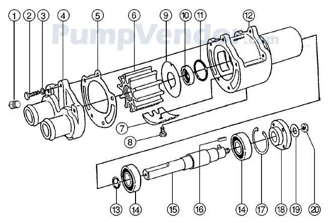 Jabsco 43210-0001 Parts List