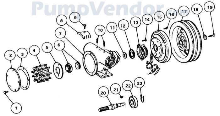 Jabsco 50080-2201 Parts List