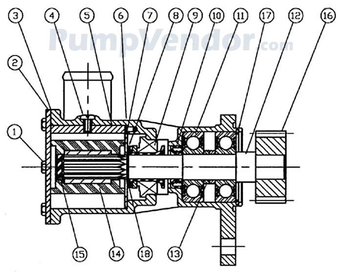 Jabsco 50180-1001 Parts List