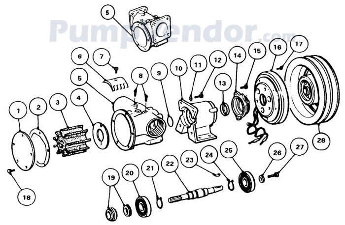 Jabsco 50220-0111 Parts List