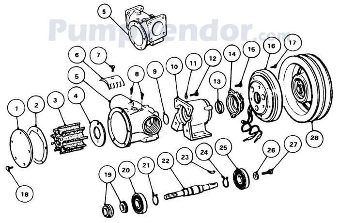 Jabsco 50270-0011 Parts List