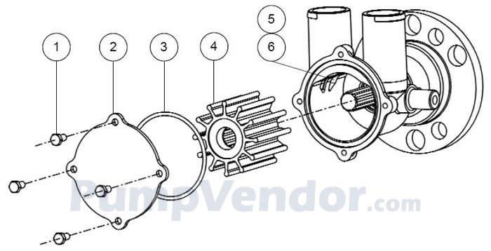 Jabsco 50410-1201 Parts List