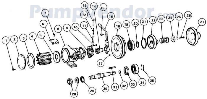 Jabsco 51200-9013 Parts List