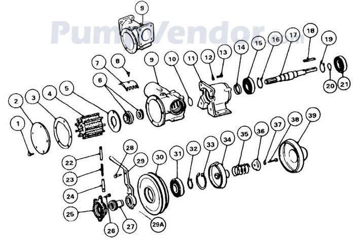 Jabsco 51270-9013 Parts List