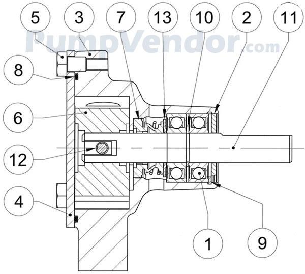 Jabsco 51520-2001 Parts List