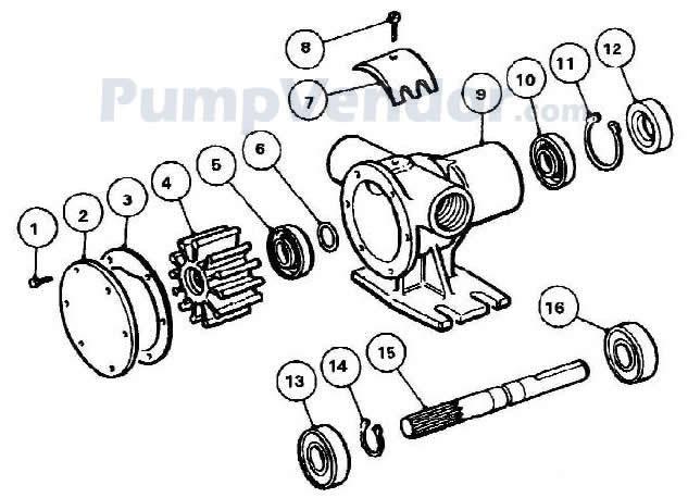 Jabsco 52040-2001 Parts List