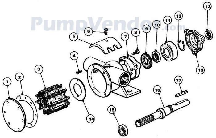 Jabsco 52080-2003 Parts List