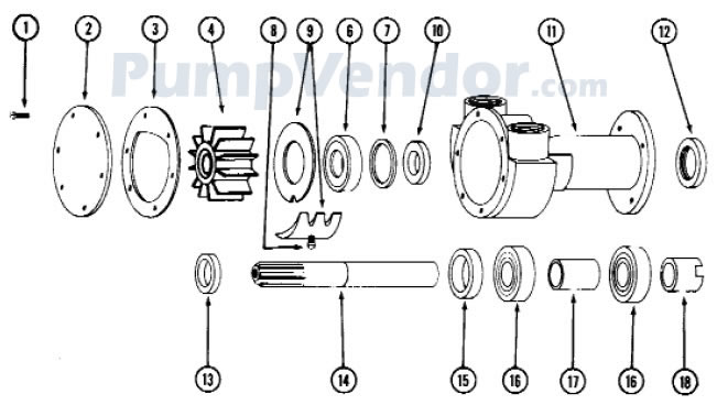 Jabsco 5850-0001 Parts List