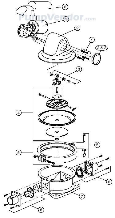 Jabsco 59090-0012 Parts List