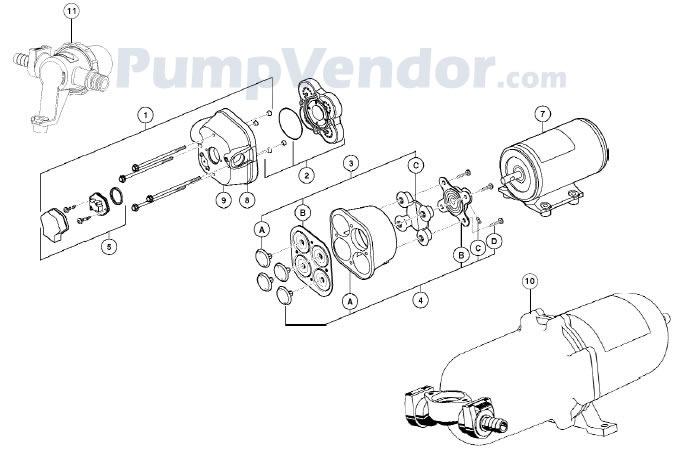 Jabsco 59451-1012 Parts List
