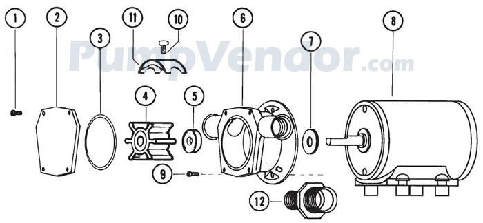 Jabsco 6360-1001 Parts List