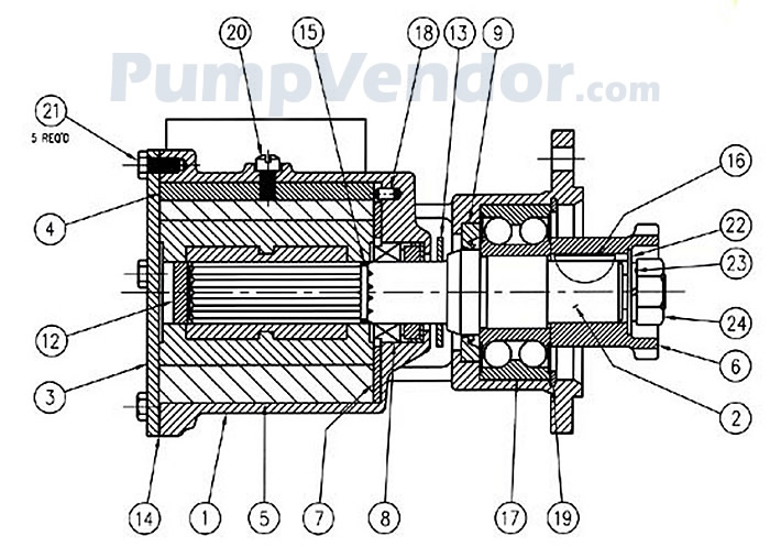 Jabsco 6980-0011 Parts List