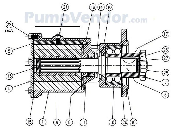 Jabsco 6980-3100 Parts List