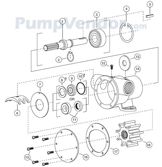 Jabsco 777-9001 Parts List