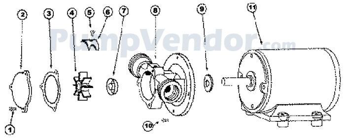 Jabsco 18870-0001 Parts List