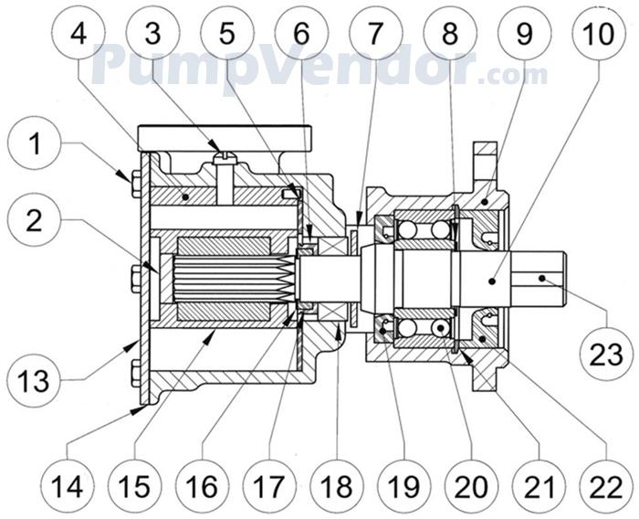 Jabsco 9700-04 Parts List