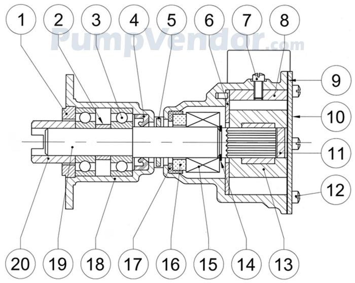 Jabsco 9970-200 Parts List