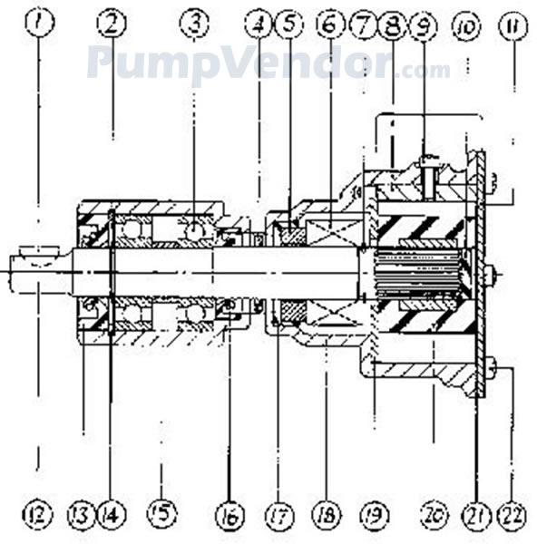 Jabsco 9990-41 Engine Cooling Pump