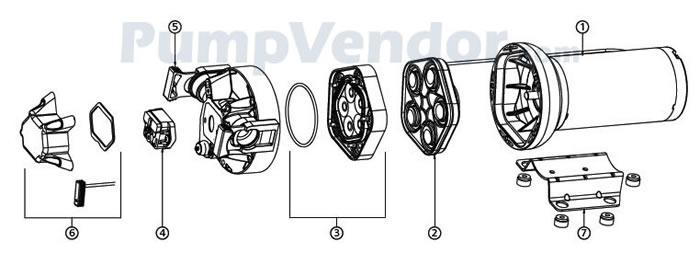 Jabsco 82400-0092 Parts List