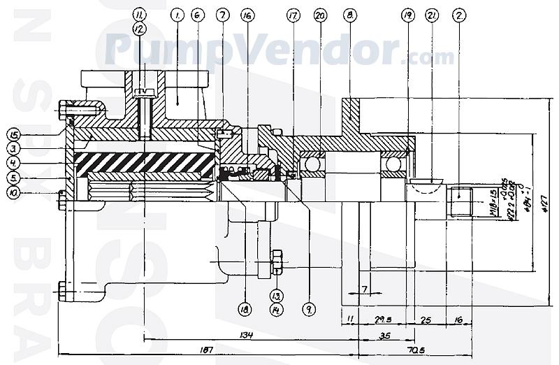Johnson 10-13080-01 Parts List