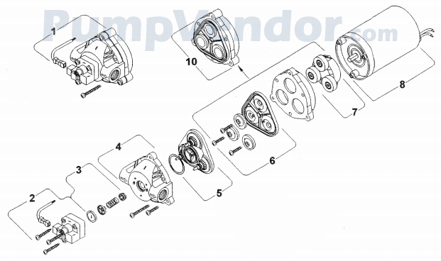 Shurflo 8008-943-839 Parts List