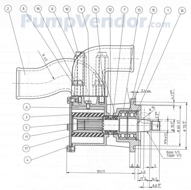 Yanmar 119773-42502 Parts List
