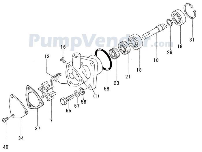 Yanmar 128170-42200 Parts List