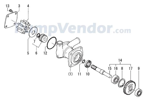 Yanmar 129573-42502 Parts List